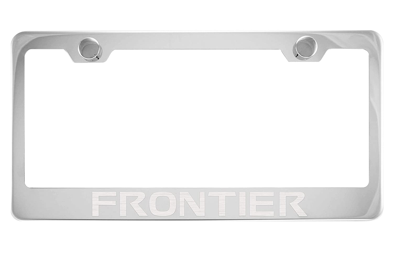 Nissan Frontier Mirrored Chrome Stainless Steel License Plate Frame