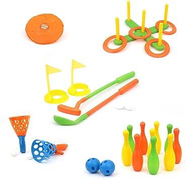 Mamatoy Jeux 6 En 1 Sport Ensemble De Six Jeux Differents Inclus Frisbee Golf Anneaux Croquet