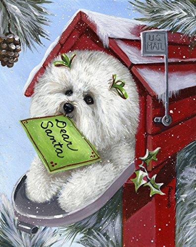 Bichon Frise Letter to Santa-LF