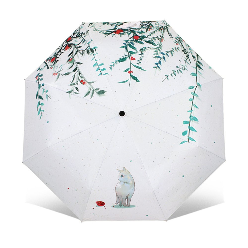 Amazon.com | Artistic Umbrella Light-weighted Folding Umbrella with Anti-UV and Windproof Funtions Suitable for Both Sunny and Raining Days- Available In 5 ...