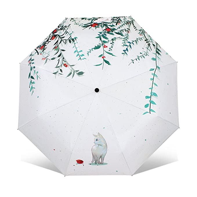 Artistic Umbrella Light-weighted Folding Umbrella with Anti-UV and Windproof Funtions Suitable for