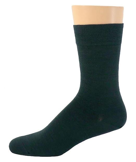Mujer Hombre Calcetines De Vestir Corto verde oscuro unisex - lana, Pack De Tres,