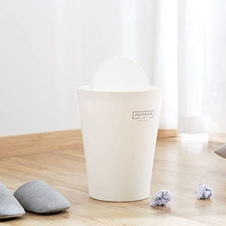 Household Trash Can, Modern Minimalist Style Round Grey Trash Can, Living  Room Bedroom Bathroom