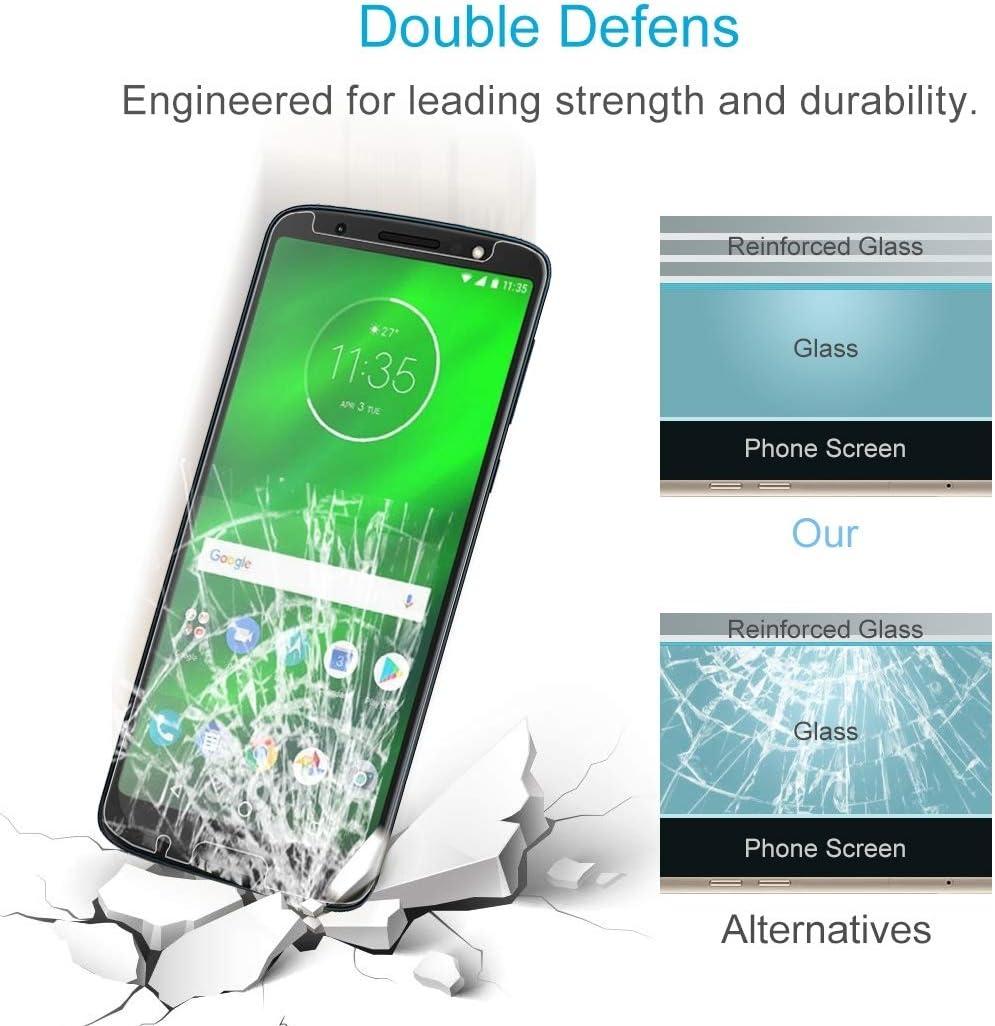 Premium Tempered Glass Screen Film 100 PCS 0.26mm 9H 2.5D Tempered Glass Film for Motorola Moto G6 Plus Anti-Scratch Screen Protector