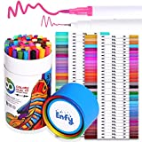 60 Colors Dual Tip Brush Marker Pens - Dual Brush Pens Set Art Brush Markers with Fine Tip and Highlighter for Adult Coloring Books Calligraphy Taking Notes Bullet Journal Drawing Art Projects