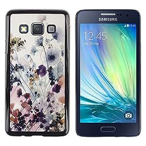 Be Good Phone Accessory // Dura Cáscara cubierta Protectora Caso Carcasa Funda de Protección para Samsung Galaxy A3 SM-A300 // Flowers Delicate Spring Art