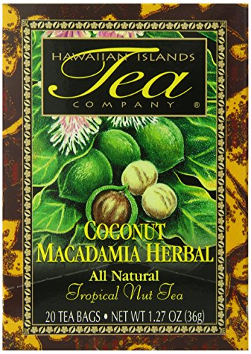 Hawaiian Islands Tea, Coconut Herbal, 1.27-Ounce Boxes (Pack of 6) by Hawaiian Islands Tea