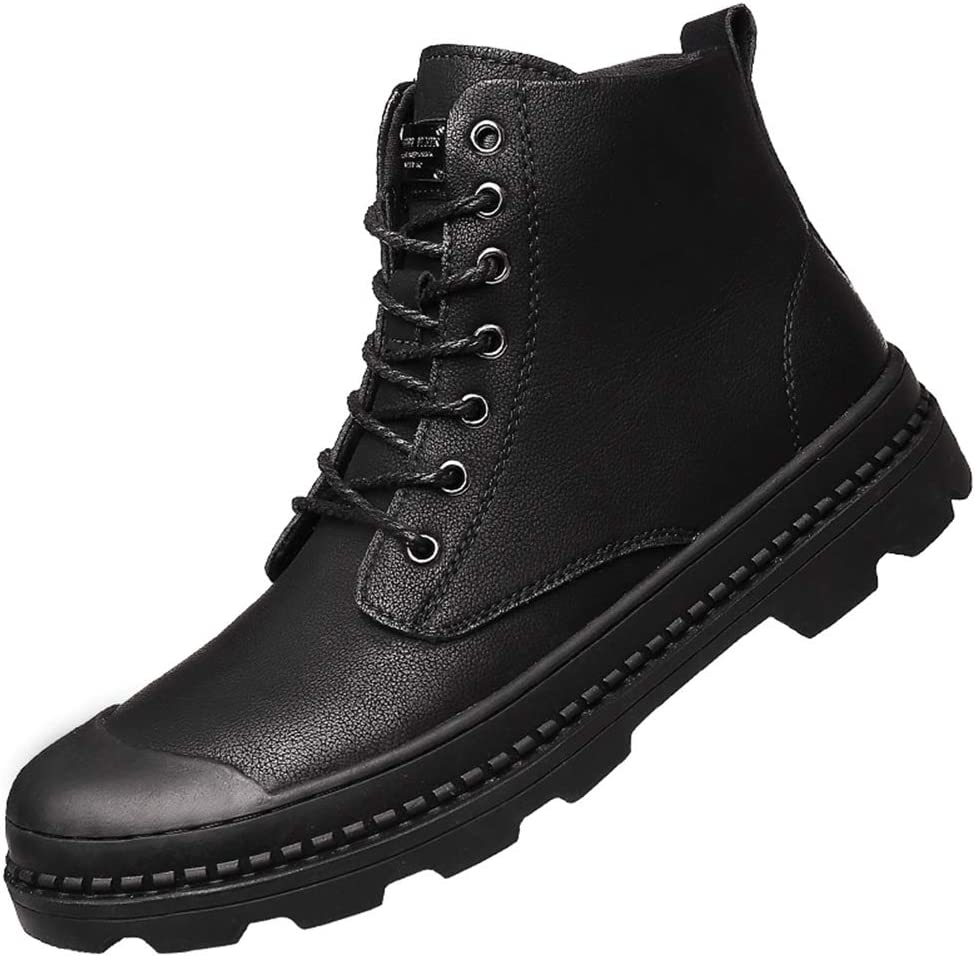 Combat Leather Boots Autumn Winter