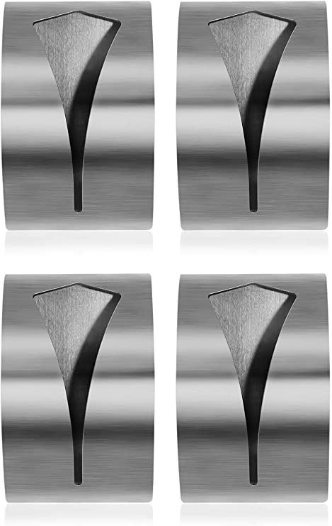 4x Selbstklebende Handtuchhalter Handtuchklemme Geschirrtuchklemme aus rostfreiem Edelstahl geeignet f/ür Bad und K/üche