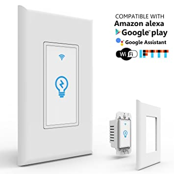 Joso Smart Light Switch, Wi Fi Remote Timing Control With Smartphone In Wall