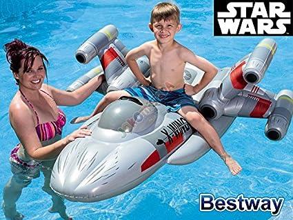 Capazo hinchable x-fighter Star Wars para niños Juegos de agua Bestway – Gris