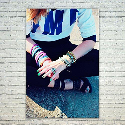 保存ピストンメアリアンジョーンズWestlakeアートポスター印刷ウォールアート – Hand写真 – モダン画像写真ホーム装飾オフィス誕生日ギフト – Unframed – 12 x 450 mm 30x40 in ホワイト