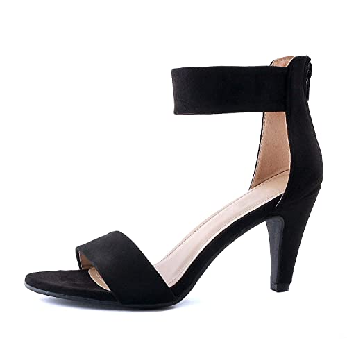 7ec4bd2d3d3 Guilty Shoes Women's Ankle Strap Open Toe Comfortable High Heels Dress  Wedding Party Heeled Sandals