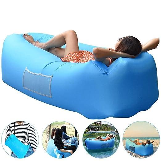 Sofa Hinchable con Bolso portatil, Tumbona Hinchable de Playa ...
