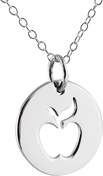 Sterling Silver Apple Charm Pendant