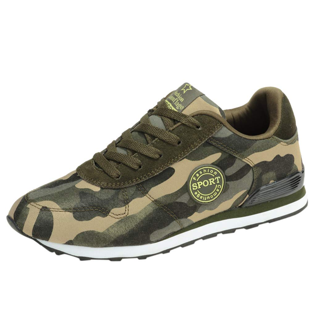 Couple Sport Shoes,Mosunx Athletic 【Camouflage Breathable Lace Up】 Lightweight Flat Casual Sneakers for Men Women Boys Girls (5.5 M US, Camouflage)