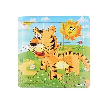 Bbsmile Puzzles Infantiles Juguete Educativo De Madera Tiger Jigsaw