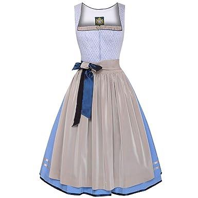 264b8277d6c53f Hammerschmid Damen Trachten-Mode Midi Dirndl Frillensee in Hellblau  traditionell, Größe:48,