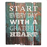 nice art decor wall ideas Stonebriar Rustic Wooden Worn Turquoise Painted Grateful Heart Wall Art with 3 Decorative Hooks, Inspirational Wall Decor, Gift Ideas for Friends and Family