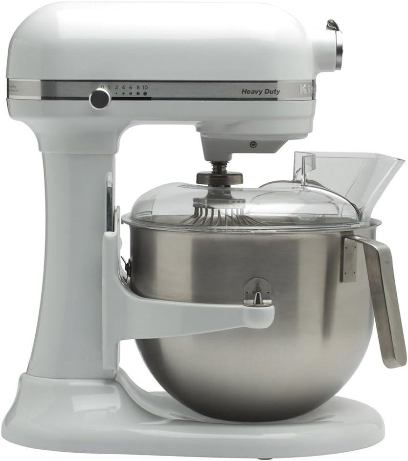 KitchenAid 5KSM7591X - Robot de cocina (Acero inoxidable, Color blanco, 50/60 Hz, Metal)