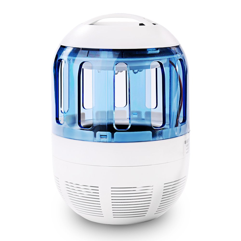 Mosquito Killer Lamp, Electronic Bug Zapper Non-toxic Midge Trap with LED Blue-ray and Quiet Fan Inhaler to Physically Kill Flying Moth, Non-Chemical, Harmless and Healthy for Indoor (Inhaler)