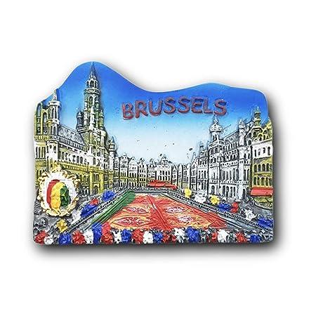 Bruselas Bélgica Imán de Refrigerador 3D Recuerdos Turísticos ...