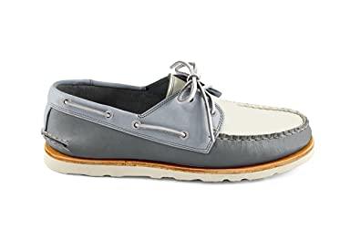 Men's Heartline Boat Shoe- Gray Grey