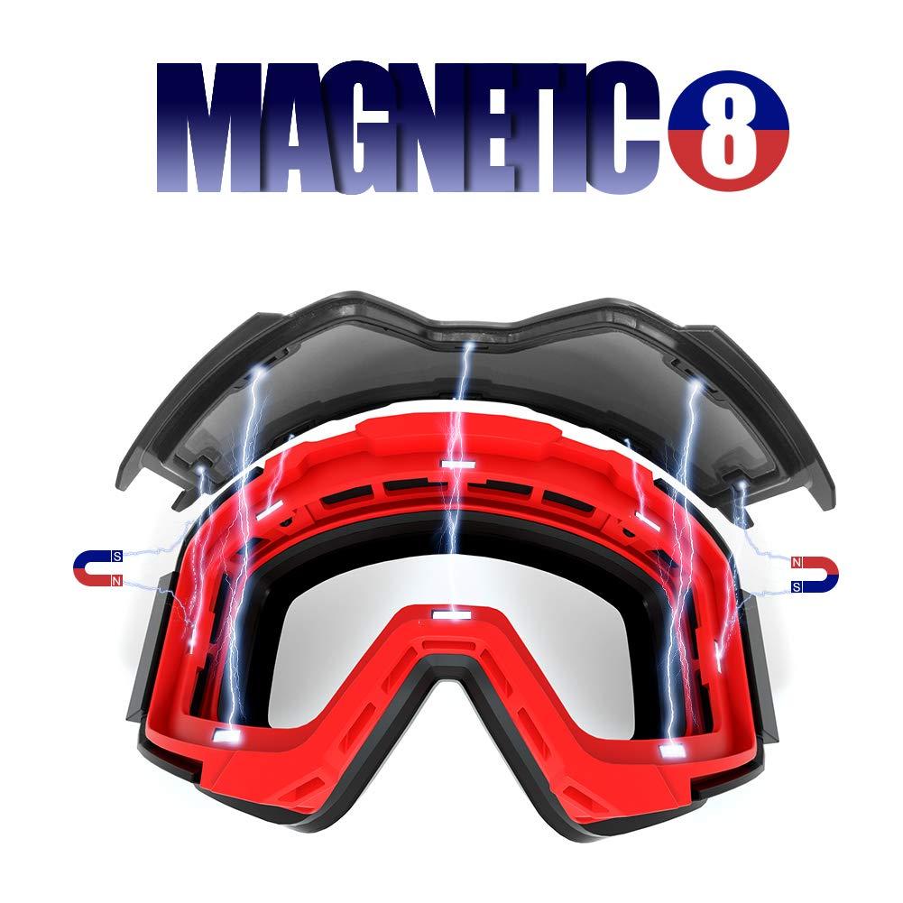 Extra Mile Gafas de esqu/í,2020 Gafas de ventisca de OTG Snowboard con Lentes Empalmadas de Dos Colores,100/% UV400 Protecci/ón para Hombres Mujeres y J/óvenes
