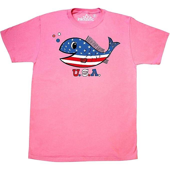 eb2d53281 Amazon.com: inktastic - American Fishy T-Shirt 3780: Clothing