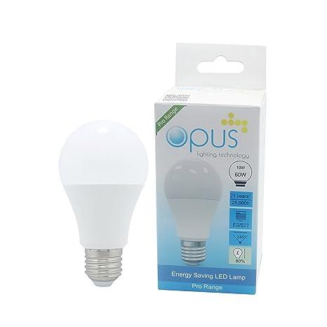 2 x Opus es E27 LED Bombilla de bajo consumo 10 W=60 W blanco