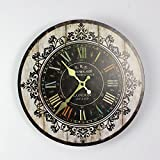 WJY Sweet Home European Creative Retro Stylish Wall Clocks For Home Bedroom Living Room Decorative Wall Clock Quartz Clock 12 inch