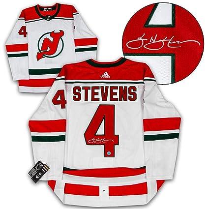 hot sale online 66c38 f6fb4 Scott Stevens Autographed Jersey - Retro Adidas ...