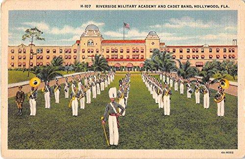Hollywood Florida Riverside Military Academy Cadet Band Antique Postcard J52254