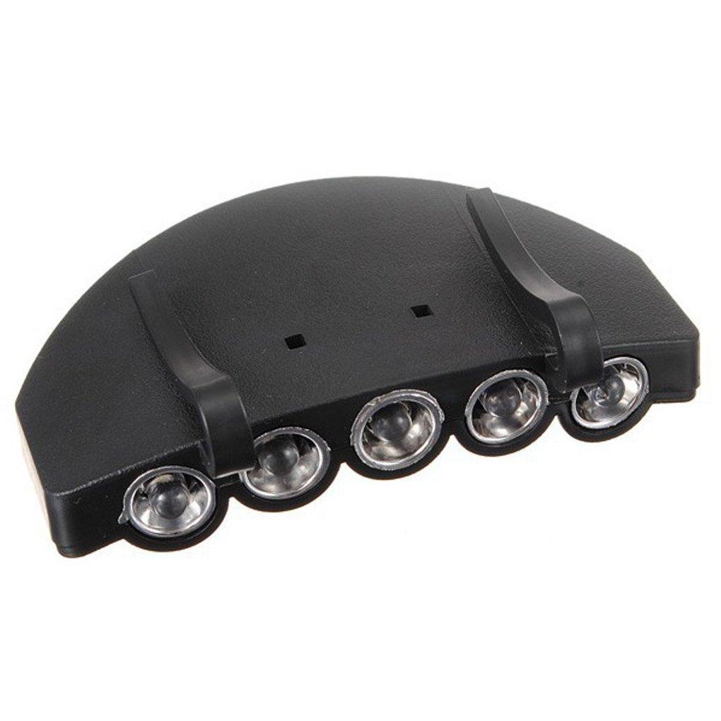GOTTING 5LEDs Hat Cap Clip Lumi/ère Lampe Projecteur Phare pour la p/êche Camping