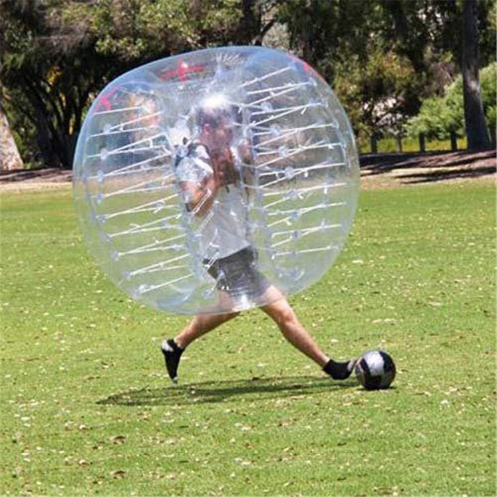 WXH Bolas de Parachoques inflables, balón de fútbol de Burbujas, balón de hámster Humano, 1.2M / 4 pies, diámetro de 1.5M / 5 pies, Material de PVC, Adultos o niños