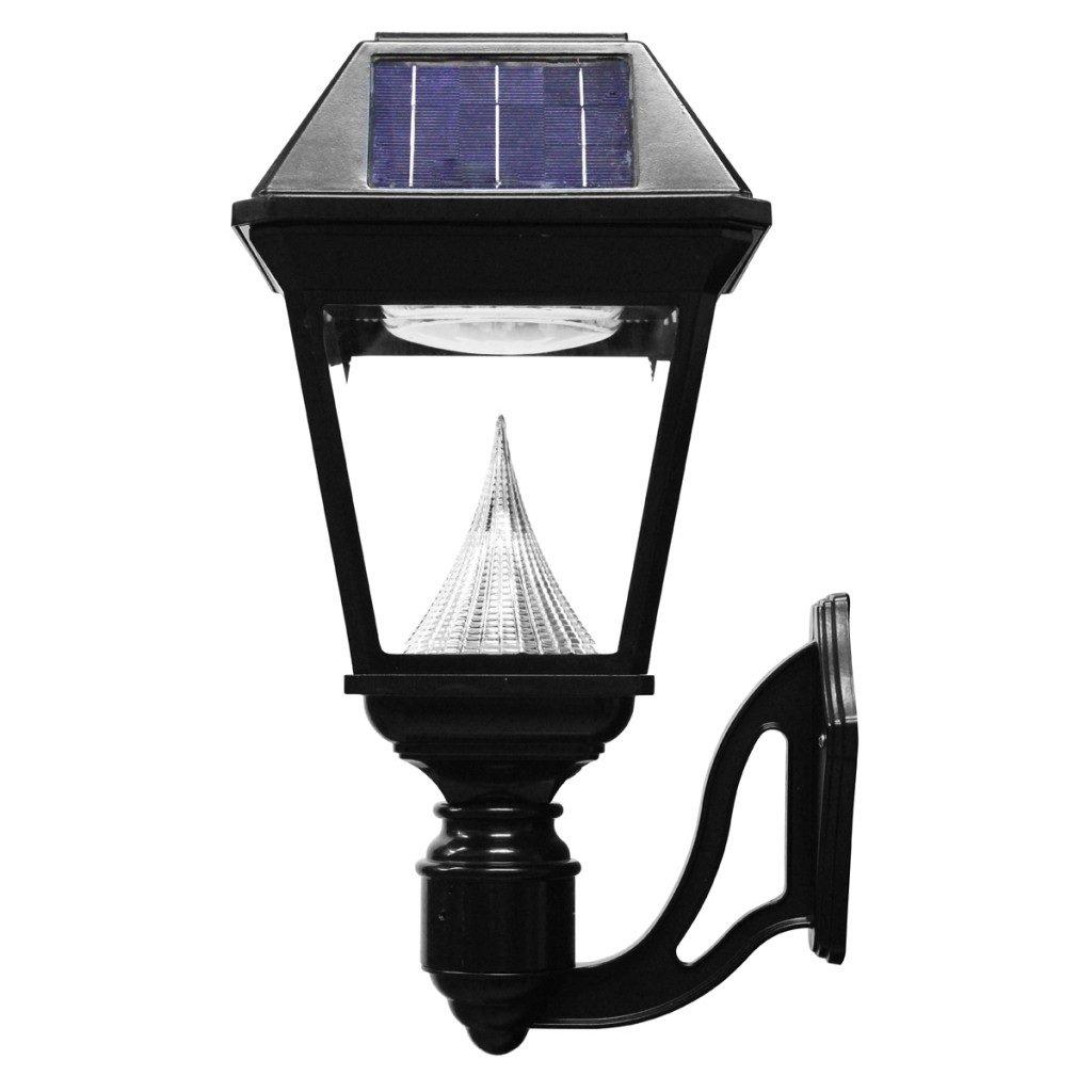 Imperial II Solar Lantern, Wall Mount, Black