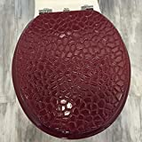 Daniel's Bath & Byound Toilet Seat Stone Burgundy Molded Wood Round