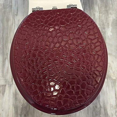 Daniel's Bath & Byound Toilet Seat Stone Burgundy Molded Wood Round by Daniel's Bath & Byound