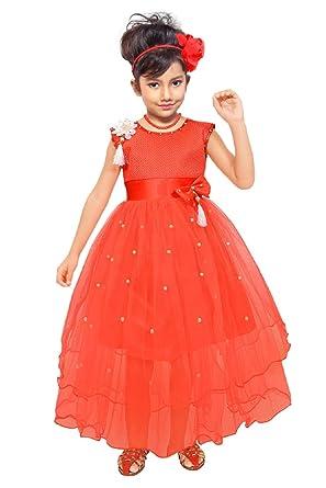 77c0958aa036 ARK Cute Baby Fashion Maxi Full Length Dresses Frock Girl s Bright ...