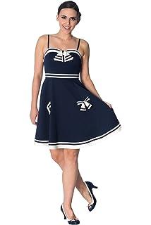 fb3995cb7448 Banned Set Sail 2 Fer Vintage Nautical Dress - Navy/UK-14: Amazon.co ...