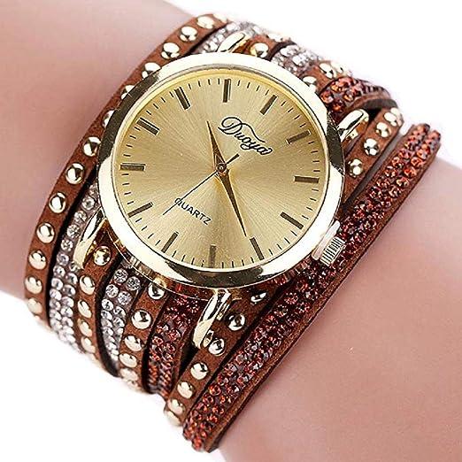 Scpink Reloj de Pulsera para Mujer, Tachonado de Moda Reloj de Diamante Completo Dial Grande Aleación Reloj de Cuarzo Simple Relojes de señora Relojes ...