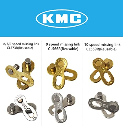 Silver KMC CL559R Missing Link 10R for Bike Bicycle KMC SHIMANO 10 Speed Chain