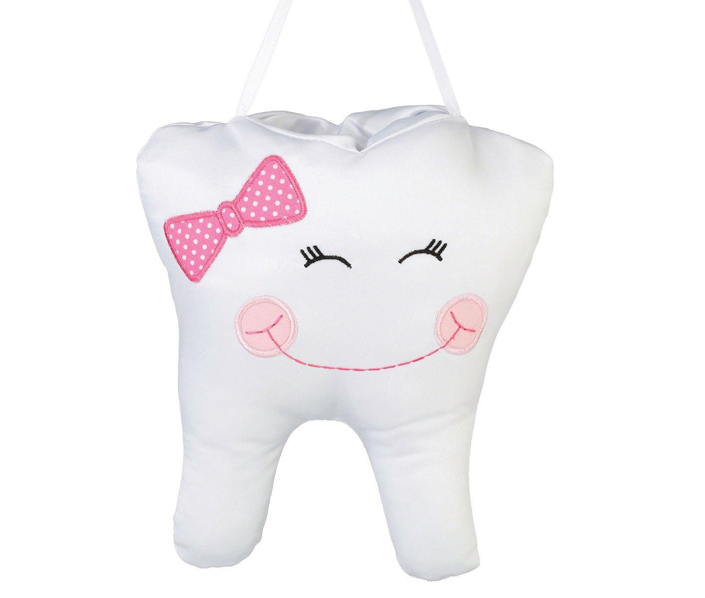 Lillian Rose Tooth Pillow, Pink Cap, 6.5'' x 7.5''