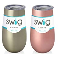 Occasionally Made Swig Fluted Cup, 6 oz (Gold & Rose Gold)