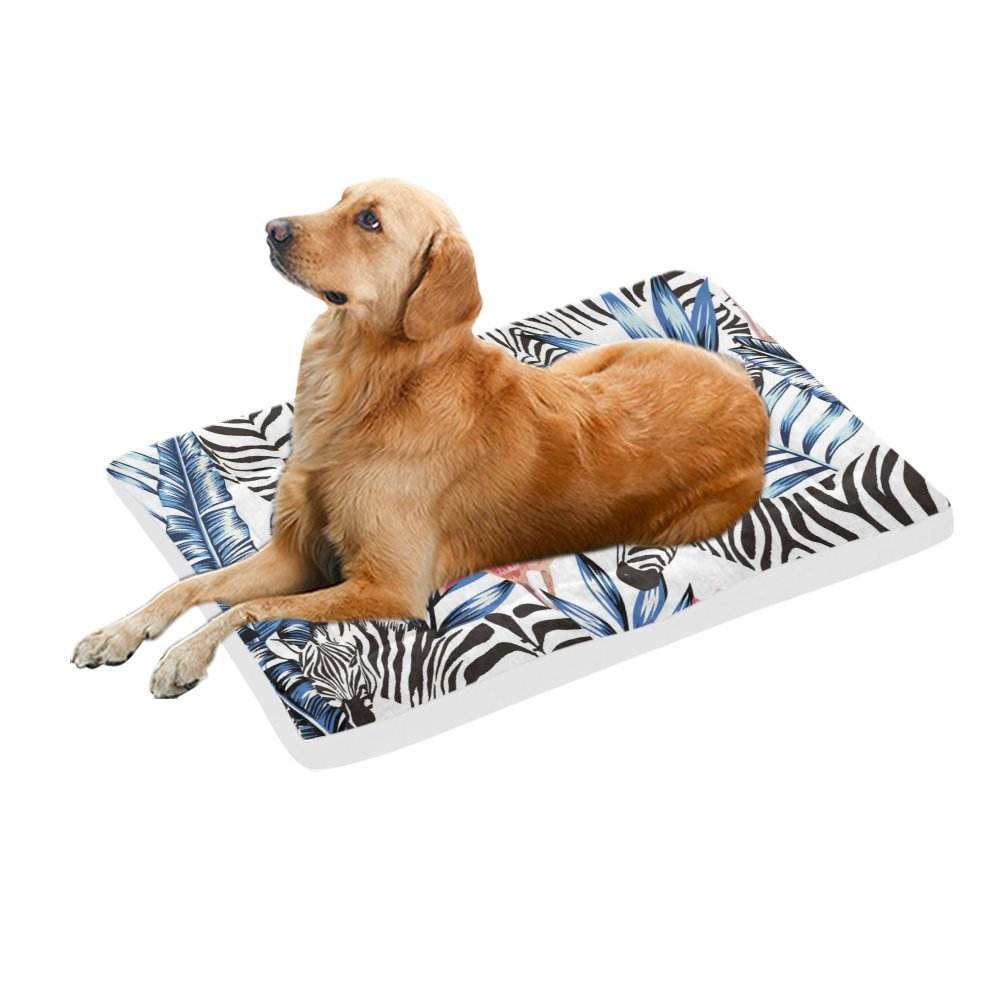 42\ your-fantasia Tropical Zebra Pet Bed Dog Bed Pet Pad 42 x 26 inches