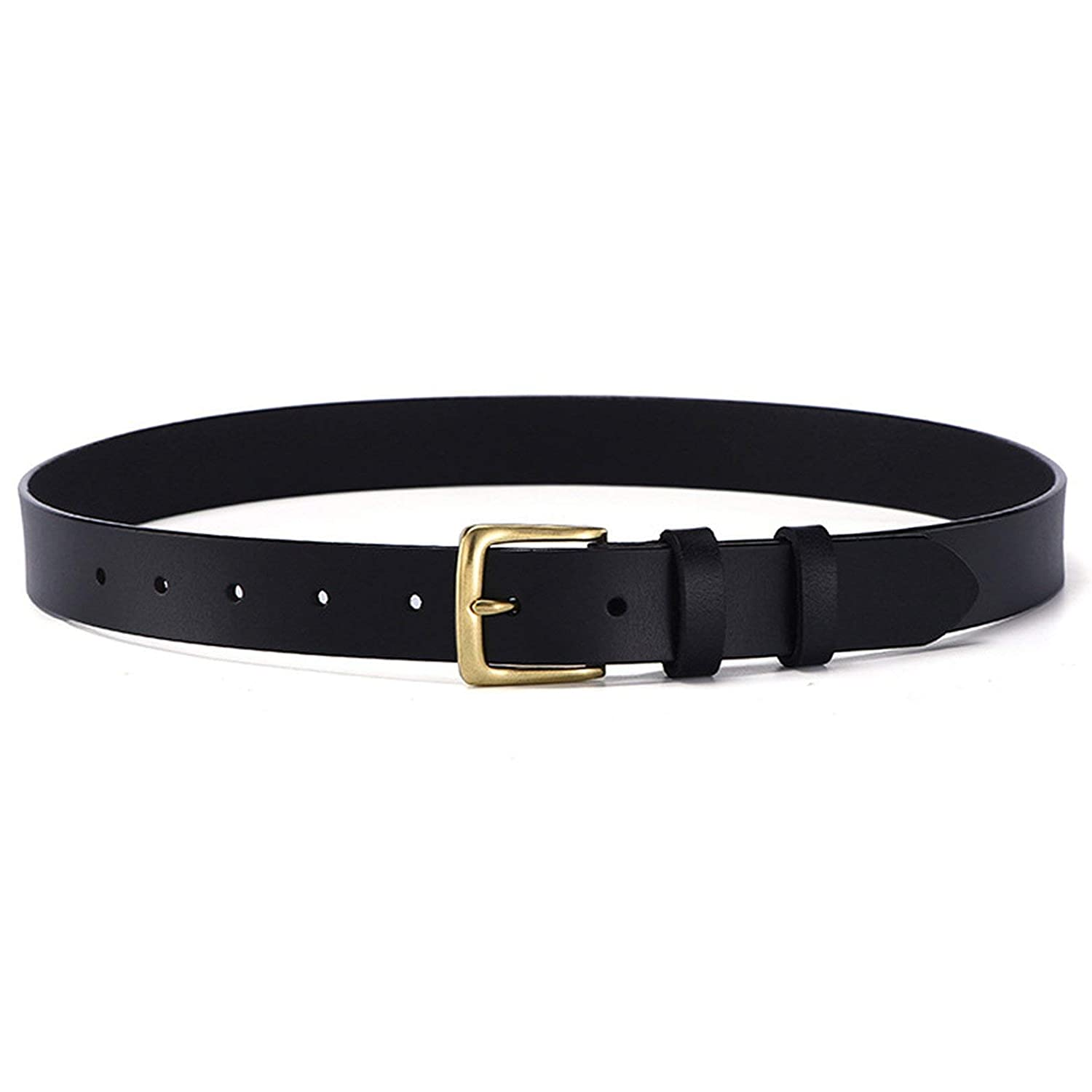 Ayli Womens Handcrafted Classic Gold Color Buckle Buckle Genuine Leather Belt
