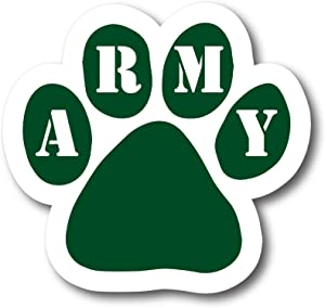 Magnet Me Up Army Pawprint Car Magnet Paw Print Auto Truck Decal Magnet