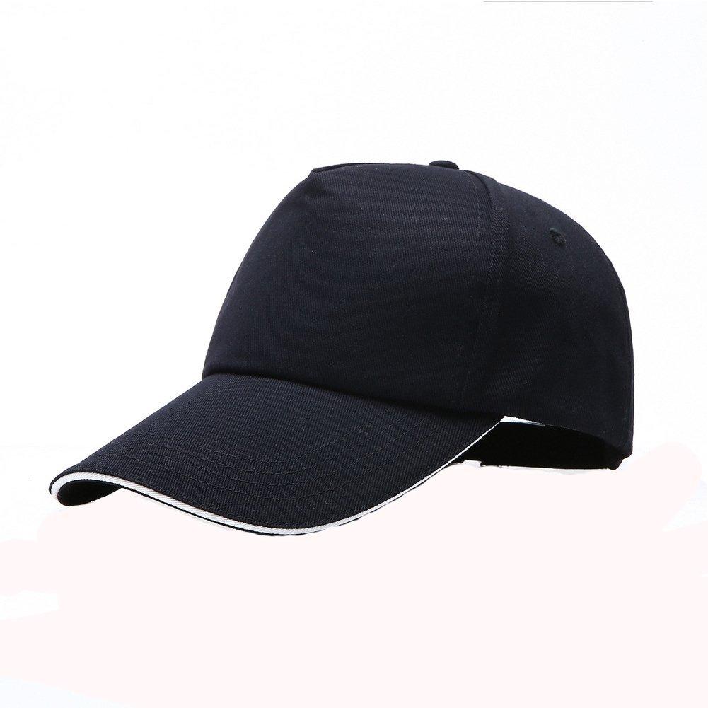 Man9Han1Qxi Creativo Semplice Casual Unisex Berretto da Baseball Regolabile Sport all' Aria Aperta Colore Solido Visiera Cappello -2#