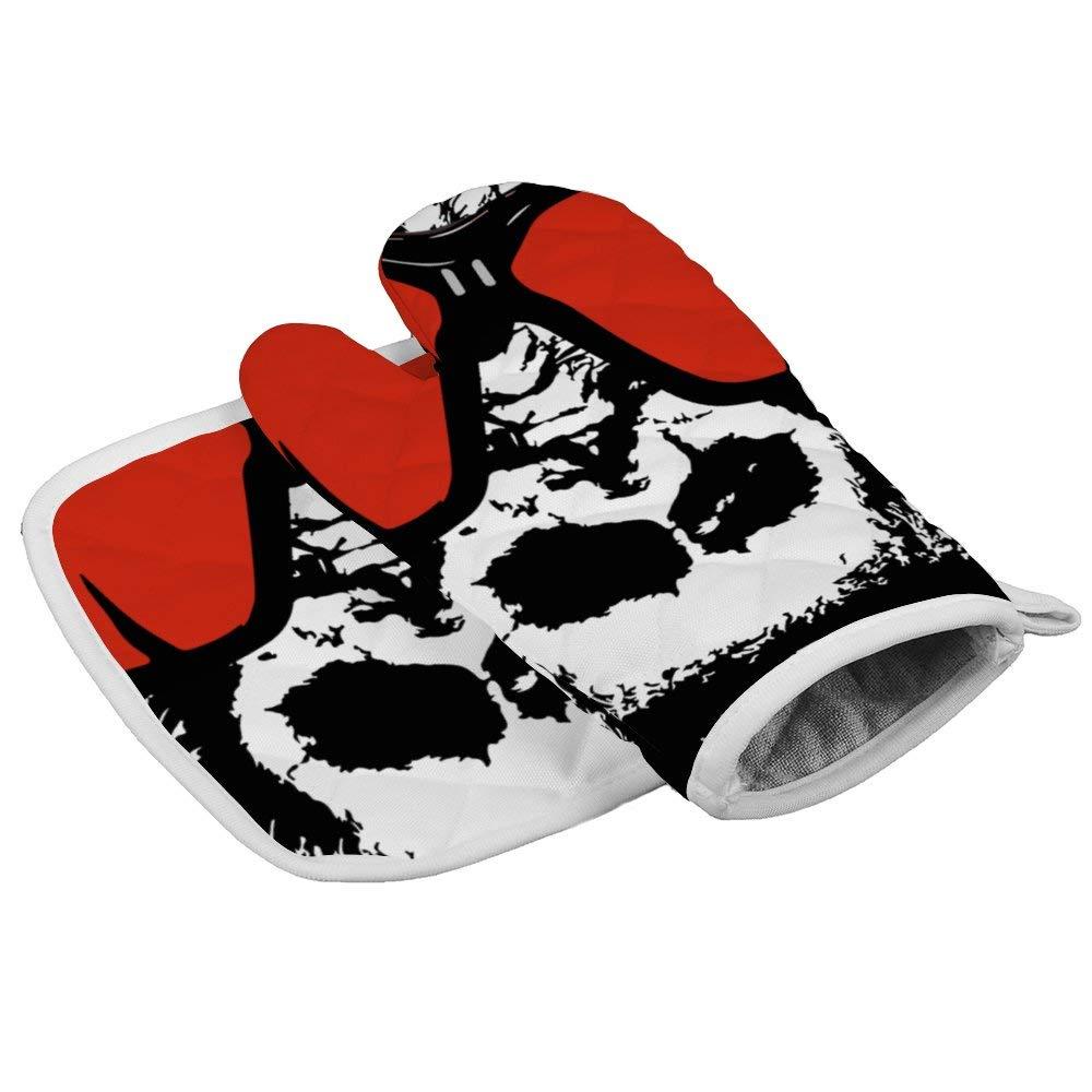 SILYHEART Oven Mitts Insulation Gloves Gorilla Oven Mitt and Pot Holder Set Insulation Gloves Heat-Resistant Kitchen Set