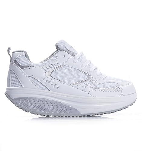 MAPLEAF - Zapatillas de gimnasia para hombre blanco Bianco blanco Size: 45: Amazon.es: Zapatos y complementos
